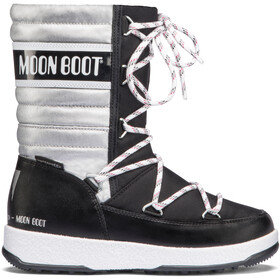 Moon Boot Quilted WP Bottes Fille, black-silver